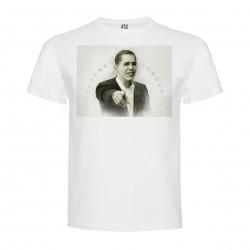 T-Shirt Barack Obama - col rond homme blanc