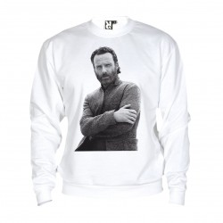 Sweat Andrew Lincoln - adulte blanc