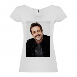 T-Shirt Jeffrey Dean Morgan - col rond femme blanc