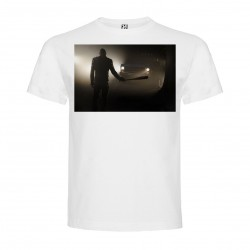 T-Shirt The Walking Dead - col rond homme blanc