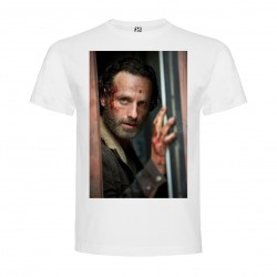 T-Shirt Andrew Lincoln - col rond homme blanc