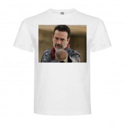 T-Shirt Jeffrey Dean Morgan - col rond homme blanc