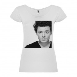 T-Shirt Kev Adams - col rond femme blanc