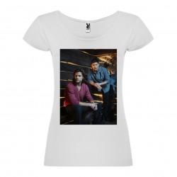 T-Shirt Supernatural - col rond femme blanc