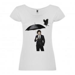 T-Shirt Kit Harington - col rond femme blanc
