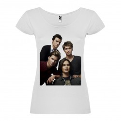 T-Shirt Pretty Little Liars - col rond femme blanc