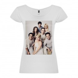 T-Shirt The Big Bang Theory - col rond femme blanc