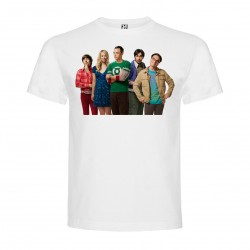 T-Shirt The Big Bang Theory - col rond homme blanc