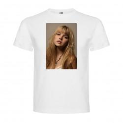 T-Shirt Aimee Teegarden - col rond homme blanc