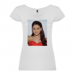 T-Shirt Ariana Grande - col rond femme blanc
