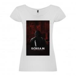 T-Shirt Scream La Série - col rond femme blanc