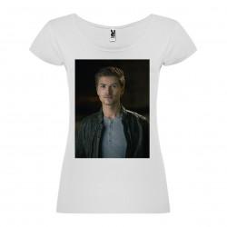 T-Shirt Amadeus Serafini - col rond femme blanc