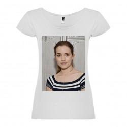 T-Shirt Willa Fitzgerald - col rond femme blanc
