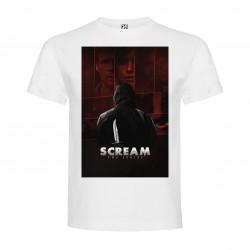T-Shirt Scream La Série - col rond homme blanc