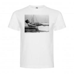 T-Shirt Arnold Schwarzenegger - col rond homme blanc