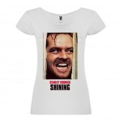 T-Shirt Shining - col rond femme blanc