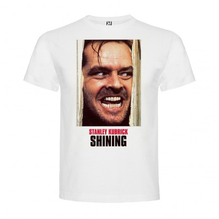 T-Shirt Shining - col rond homme blanc