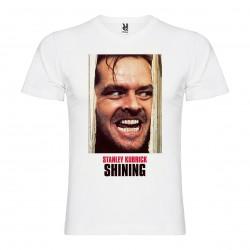 T-Shirt Shining - col v homme blanc