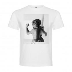 T-Shirt Psychose - col rond homme blanc