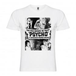 T-Shirt Psychose - col v homme blanc
