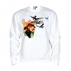 Sweat Les oiseaux - The Birds - adulte blanc