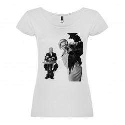 T-Shirt Les oiseaux - The Birds - col rond femme blanc