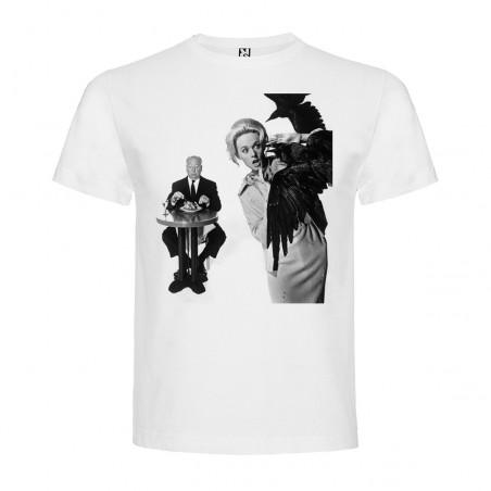 T-Shirt Les oiseaux - The Birds - col rond homme blanc