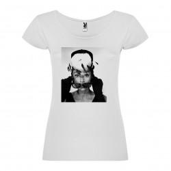 T-Shirt Audrey Hepburn - col rond femme blanc