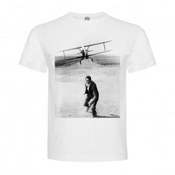 T-Shirt La Mort aux trousses - North by NorthWest - col rond homme blanc
