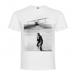 T-Shirt La Mort aux trousses - North by NorthWest - col rond homme blanc