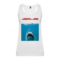 Débardeur Jaws / Les dents de la mer- femme blanc