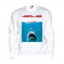 Sweat Jaws / Les dents de la mer - adulte blanc