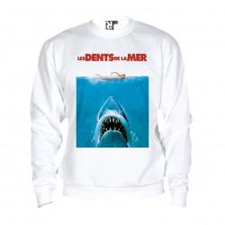 Sweat Jaws / Les dents de la mer - adulte blanc