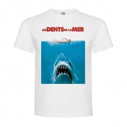 T-Shirt Jaws / Les dents de la mer - col rond homme blanc
