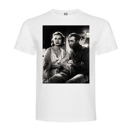 T-Shirt Fenêtre sur cour - REAR WINDOW - col rond homme blanc
