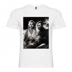 T-Shirt Fenêtre sur cour - REAR WINDOW - col v homme blanc