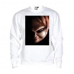 Sweat Chucky - adulte blanc