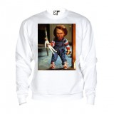 Sweat Chucky - adulte blanc