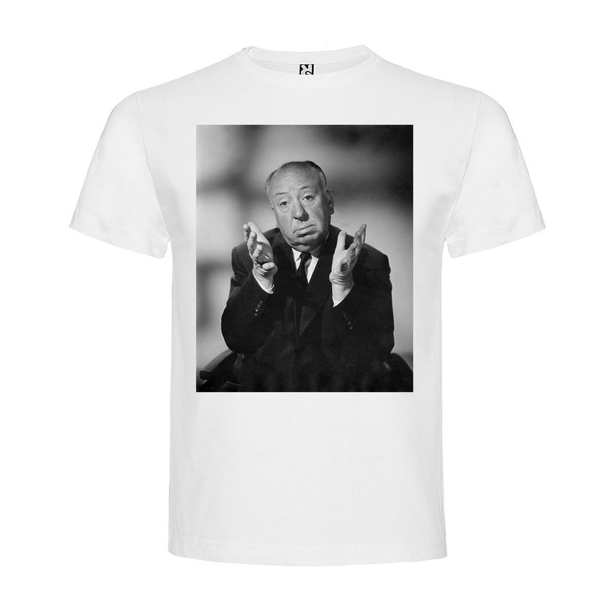 T-Shirt Alfred Hitchcock - col rond homme blanc