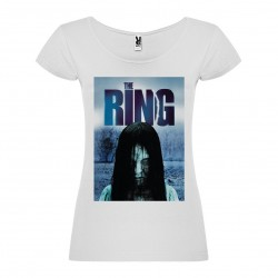 T-Shirt Le cercle / The ring - col rond femme blanc