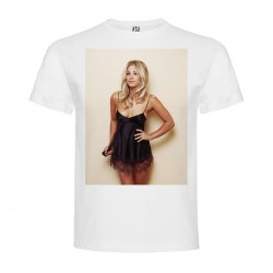 T-Shirt Kaley Cuoco - col rond homme blanc