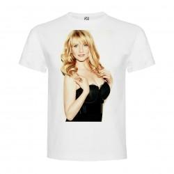 T-Shirt Melissa Rauch - col rond homme blanc