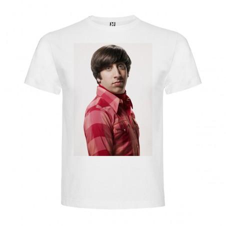 T-Shirt Simon Helberg - col rond homme blanc