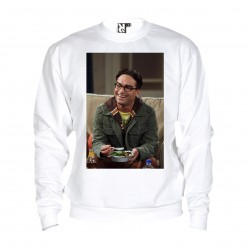 Sweat Johnny Galecki - adulte blanc