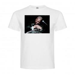 T-Shirt B. B. King - col rond homme blanc
