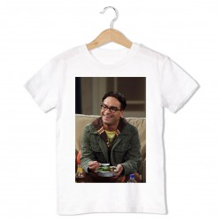 T-Shirt Johnny Galecki - enfant blanc