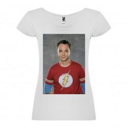 T-Shirt Jim Parsons - col rond femme blanc