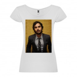 T-Shirt Kunal Nayyar - col rond femme blanc