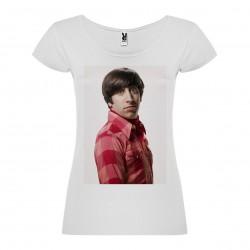 T-Shirt Simon Helberg - col rond femme blanc