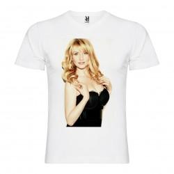T-Shirt Melissa Rauch - col v homme blanc